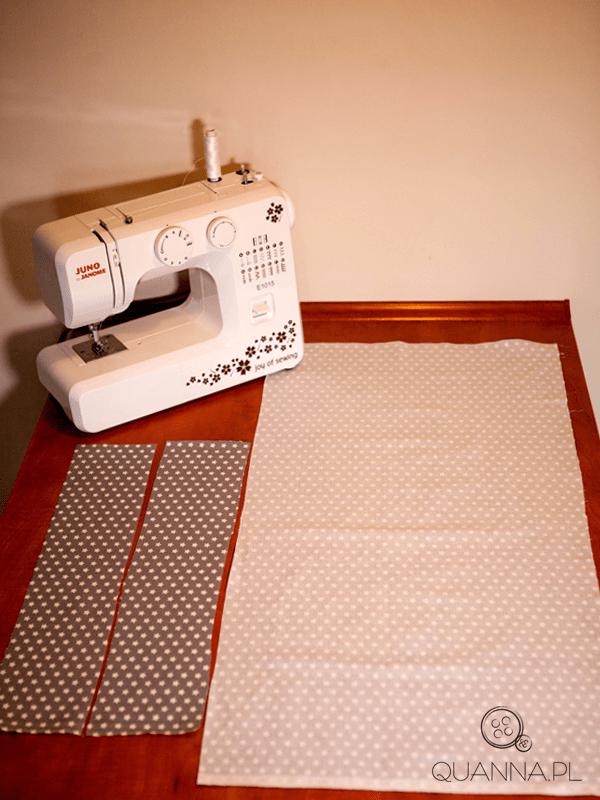 Jak uszyć torbę - kroimy materiał