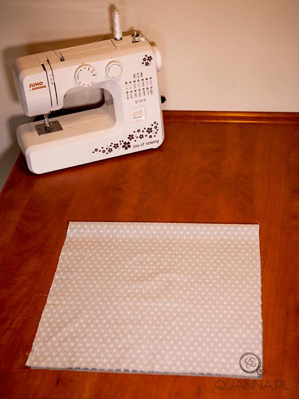 Jak uszyć torbę - składanie materiału