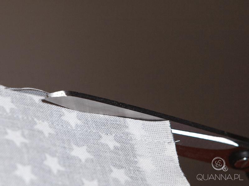 Jak uszyć torbę - ucinanie nadmiaru materiału