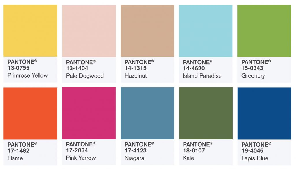 kolory pantone 2017