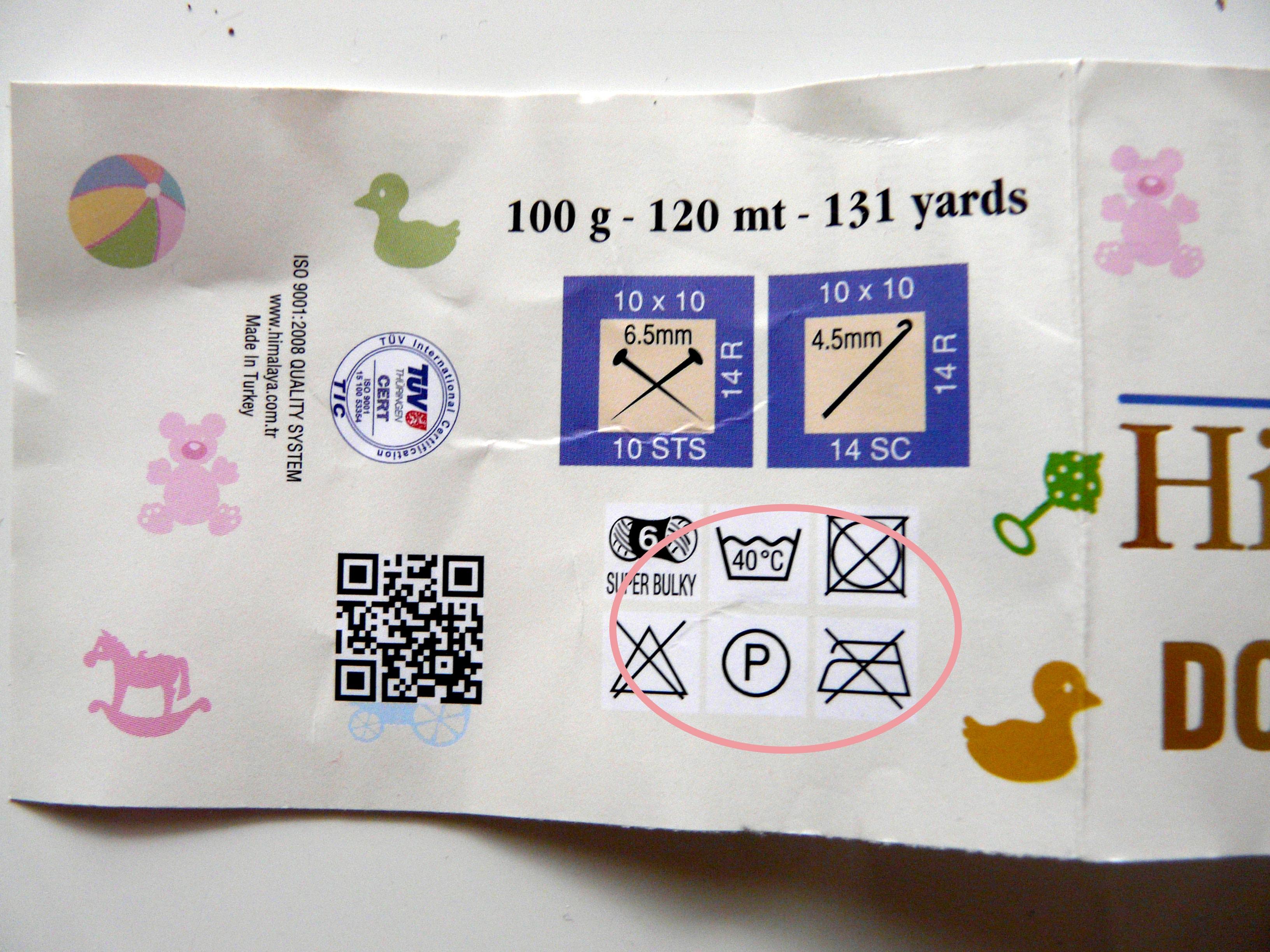 jak czytac banderole - instrukcja prania